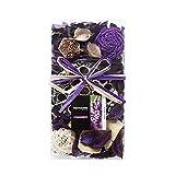 Qingbei Rina Gifts,Purple Lavender Scent Potpourri Bag,Including Lotus pod,Flower,Petal,Pinone,Rattan Ball,Sepa Takraw,Perfume Satchet in PVC Bags.Home Decoration.7oz. (Purple)