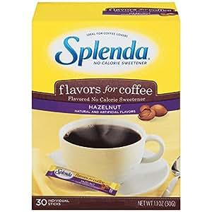 Splenda No Calorie Sweetener, Flavors for Coffee, Hazelnut, 30 Count (Pack of 6)