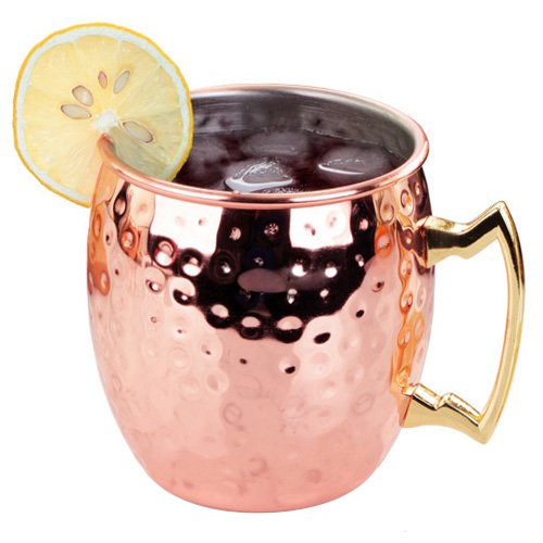 Moscow Mule Copper Mugs - WeHome Stainless Steel Hammered Moscow Mule Cocktail Mugs,Novelty Drinking Cups for Cocktails Coffee Tea Beer Vodka Beverages,Best Gift for Wine and Beer Lovers,14oz/410ML