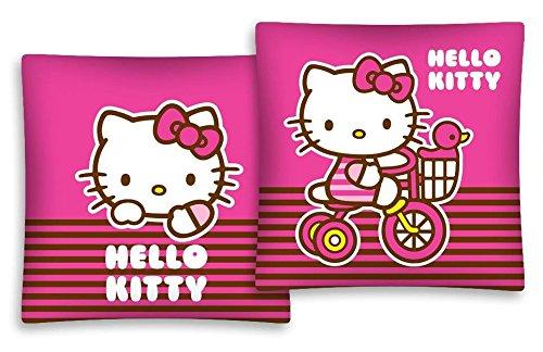 Hello Kitty color marrón rayas 100% algodón decorativo funda ...