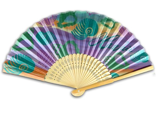 Sea Shell Personal Bamboo Fan ()