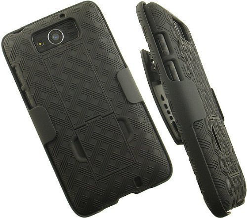 OEM Verizon Black Hard Shell Case W/ Holster Combo - Motorola Droid Ultra Xt1080
