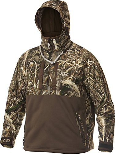 Drake LST Heavyweight Eqwader Deluxe Full Zip with Hood, Color: Realtree Max-5, Size: Large (DW4370-015-3), Camo