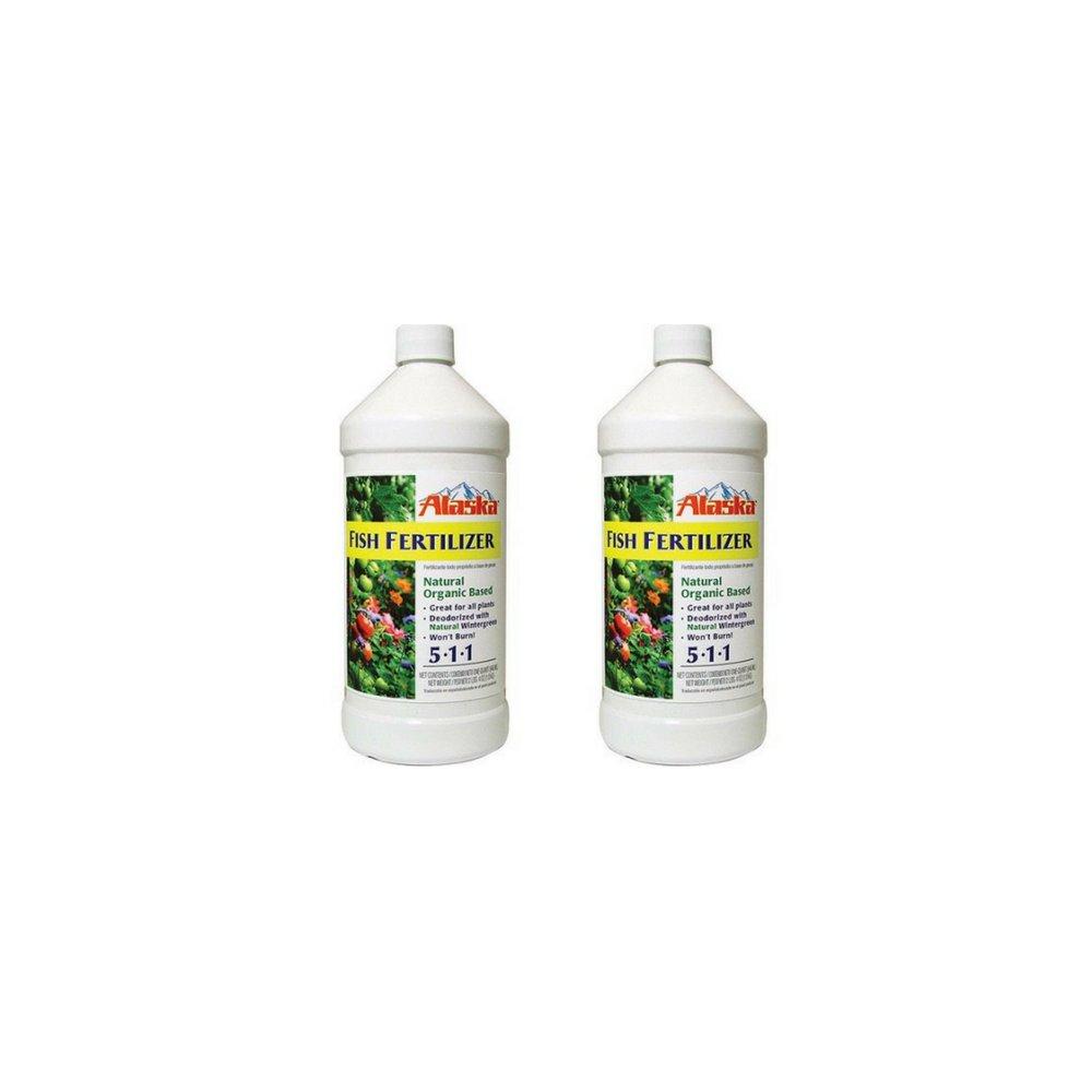Lilly Miller Alaska Fish Fertilizer 5-1-1 Concentrate 1 Quart (2-Pack)