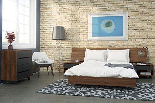 Bon Amazon.com: Nexera 346031 Alibi Queen Size Platform Bed, Walnut: Kitchen U0026  Dining