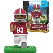 NCAA Alabama Crimson Tide Jonathan Allen Generation 2 G2 Minifigure, Small, Black
