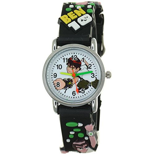 Ben Giraffe - Ben 10 Ben Tennyson 3D Silicone Strap Round Case Japanese Quartz Kids Waterproof Clasp Rubber Band Arabic Numerial Dial Children Toddler Wristwatches Time Teacher Boys Girls Little Child Unisex Watch