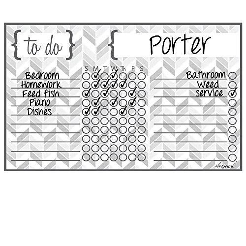 Magnet Erase Chore Chart Herrignbone