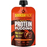 SmashPack Protein Pudding Pouches (Chocolate Peanut Butter) - Grass-Fed Protein, Low Sugar, Low Carb Snack | 15g Protein, 4g Sugar, 130 Calories | Gluten Free, Non-GMO & Keto Friendly | 6-Pack