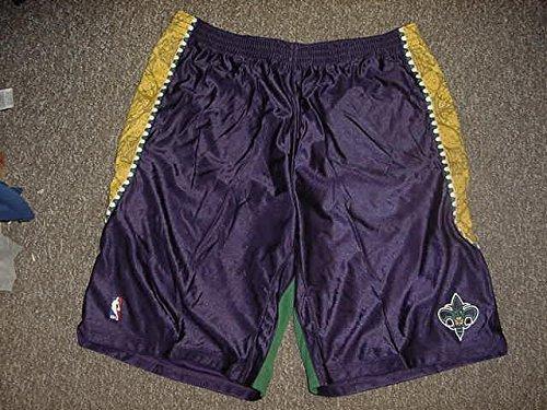 - Emeka Okafor Mardi Gras Adidas New Orleans Hornets Game Worn Shorts