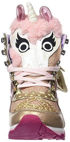 Irregular Choice Damen Candy Damsel Hohe Sneaker Gold (Gold/Pink)