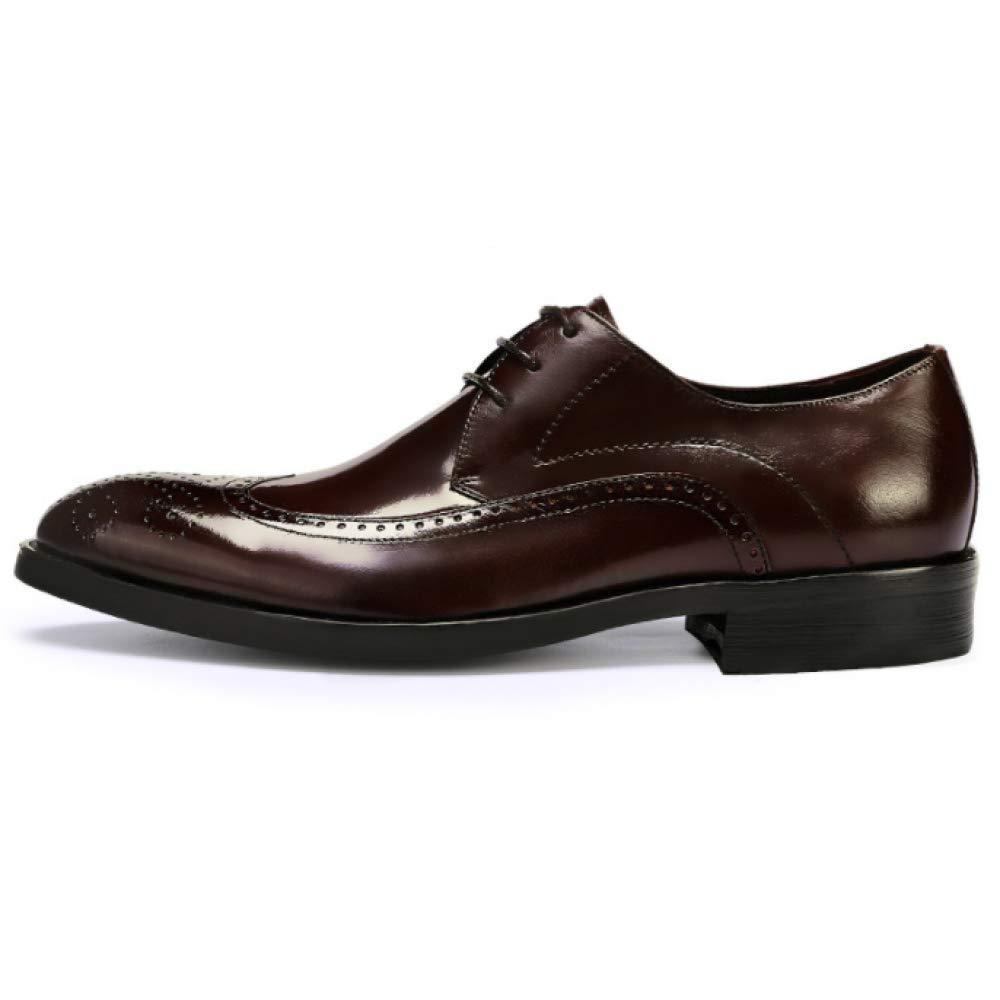 XDLJL Leder Aliex Herren Business Schuhe Brock Geschnitzte Herrenschuhe Leder XDLJL Herren Kleid Schuhe ROTwine 0e3ca2