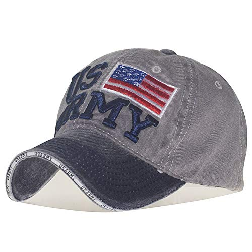 (GUOO Men Women U.S.A Flag Baseball Cap Cotton Adjustable Washed Twill Low Profile Baseball Hat …)