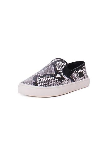 Tory Burch Max Leather Diamond Roccia Print Slip On Sneakers In Roccia Size  6