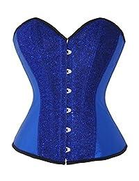 Anvoro Women's Boned Lace Up Back Corset Top 6 Colour