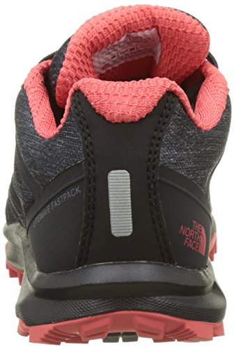The North Face Litewave Fastpack Gtx, Botas de Senderismo para Mujer Varios colores (Phantom Grey / Cayenne Red)