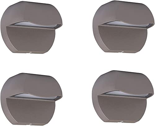 Leelands Outdoor Deck Lights LED Landscape Lighting Low Voltage 12V AC DC Cast Aluminum Patio Post Step Lights Fence Retaining Wall Mounting Light Warm White Textured Bronze Finish Pack of 4