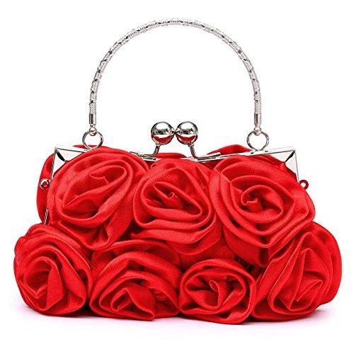 OURBAG - Cartera de mano para mujer small, caqui (caqui) - OURBAGQuqe6438 rojo