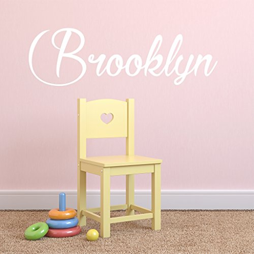 Fancy Cursive Single Personalized Custom Name Vinyl Wall Art Decal Sticker 28