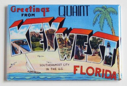 Greetings From Key West Florida Fridge Magnet (2.5 x 3.5 - Key Florida Stores West