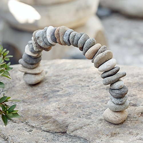 Rock Cairn Arch Sculpture Natural River Stone Arch Zen Garden Decor Statue Rocks Stacked,