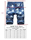 Lavnis Men's Casual Denim Shorts Classic Fit Ripped