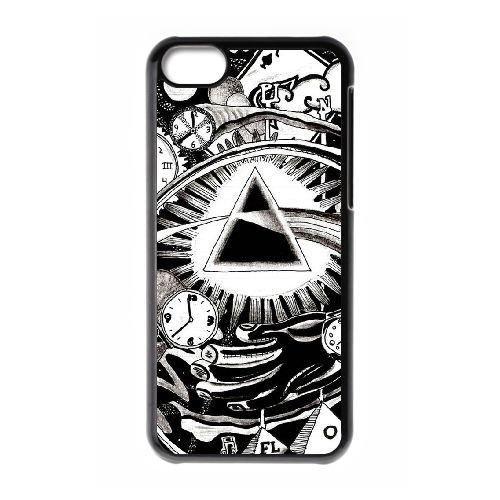 U8J29 Pink Floyd I6T0UR cas d'coque iPhone de téléphone cellulaire 5c couvercle coque noire IJ3RDX4UM