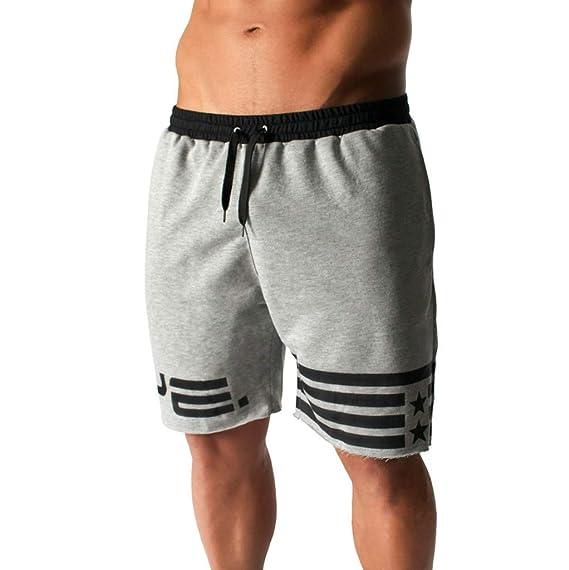 YEBIRAL Pantalones Cortos Hombre, Verano Casual con cordón ...