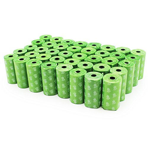 EcoJeannie 800-Count (40 Rolls) Dog Poop Bags: Environment Friendly w/ d2w for Fast Degradation, Dog Waste Bags…