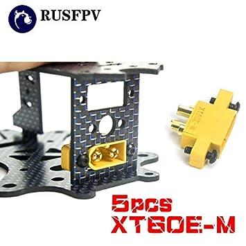 Pieza y Accesorios 5 Piezas Amass XT60E-M montable XT60 Macho Plug ...