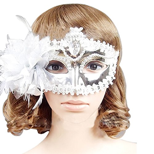 Iuhan® Fashion Charming Bling Rhinestone Diamond Venetian Style Silver Eye Costume Masquerade Mardi Mask Masquerade Mask Dress-up Party (80s Guys Costume)
