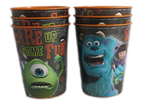 6 Halloween Disney Pixar Reusable Treat Favor Party Cups (Halloween Monsters Inc) by Disney Pixar