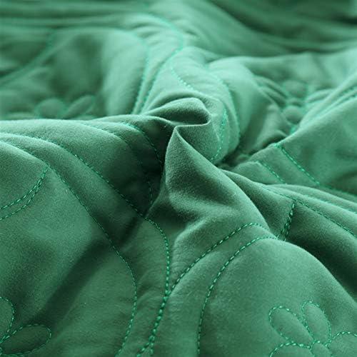 ESUHUANG Vert Jaune Gris Violet Bleu Coton Couleur Unie matelassée Ruffle Couvre-lit Couvre-lit Couvre-lit Ensemble Jupe de lit/Feuille Taie (Color : 14, Size : 245X270cm 5pcs)