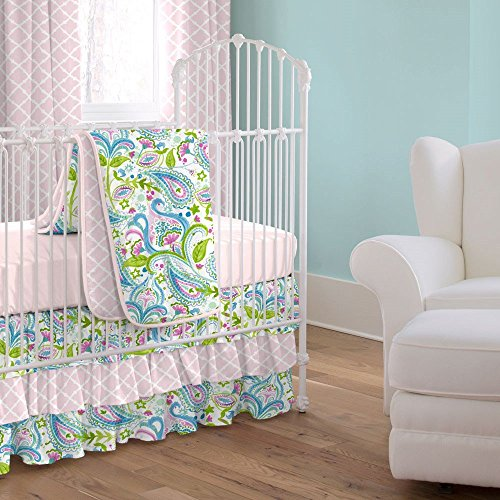 carousel designs painted paisley 3 crib bedding set