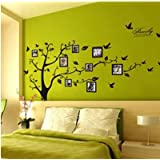 SOURBAN Memory Family Tree Photo Picture Frame Wall Decals Wall Stickers Decorations