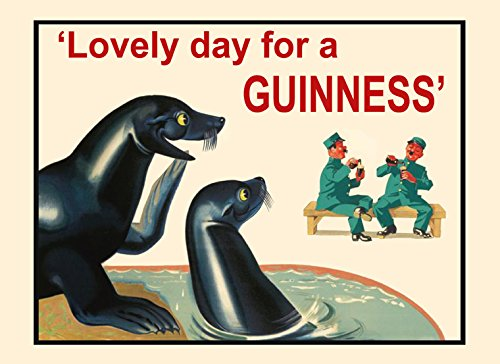 - Seal Lovely Day For a Guinness Beer Irish Ireland Vintage Poster Repro on PAPER or on CANVAS. We Have Many Sizes Available ! (12