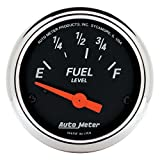 Auto Meter 1423 Designer Black Fuel Level Gauge