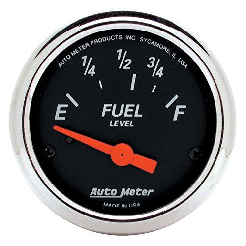 Auto Meter 1423 Designer Black Fuel Level Gauge by Auto Meter