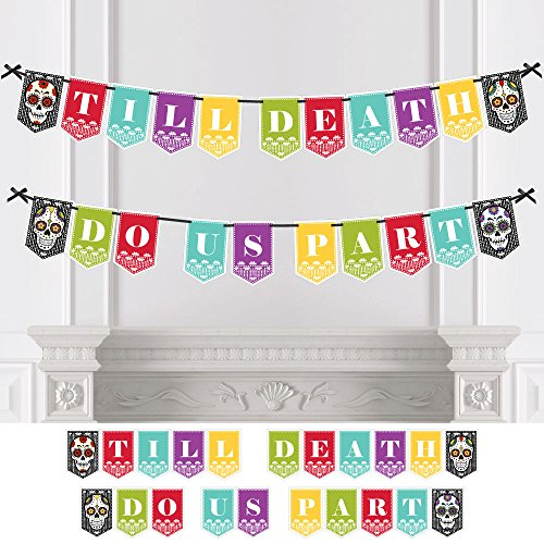 - Day of The Dead - Wedding Party Bunting Banner - Sugar Skull Wedding Decorations - Till Death Do Us Part