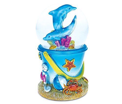 Sand Bucket Dolphin Snow Globe