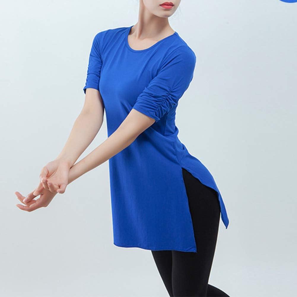 Women Yoga Short Sleeve T-Shirt Sports Dance Tee Top