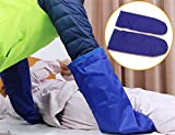 LUCKYYAN 1 Pair Shift Assisted Massage Decompression Gloves - Bedridden Patients Move Slip Cloth -Single layer -55×21cm,Blue