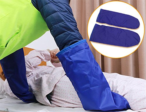 LUCKYYAN 1 Pair Shift Assisted Massage Decompression Gloves - Bedridden Patients Move Slip Cloth -Single layer -55×21cm,Blue by LUCKYYAN