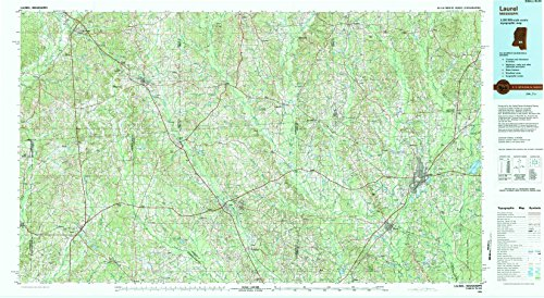 Laurel MS topo map, 1:100000 scale, 30 X 60 Minute, Historical, 1994, updated 1994, 24.1 x 44 IN - Tyvek (Scale House Simpsons)