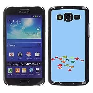 For Samsung Galaxy Grand 2 - Funny Colorful Koi Fish /Caja protectora de pl???¡¯????stico duro de la cubierta Dise???¡¯???¡Ào Slim Fit/ - Super Marley Sh