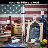 American-Made Alcohol Hydrometer Tester 0-200 Proof & Tralle Pro Series Traceable - Distilling Moonshine Alcoholmeter