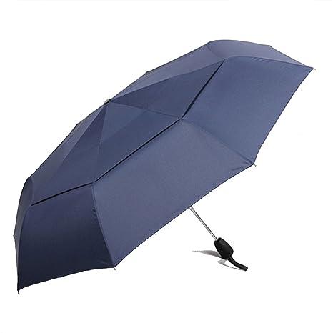 Gran resistencia al viento paraguas para hombres calidad paraguas lluvia paraguas mujeres viaje compacto paraguas (