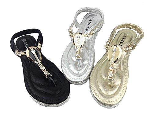 Aisun-Womens-Boho-T-Strap-Slip-On-Clip-Toe-Flat-Thong-Sandals-Beach-Shoes