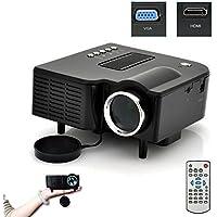 Projector, Lary intel New Portable Multimedia LED Projector Home Cinema Theater Support AV VGA USB SD HDMI Black