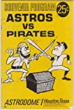 1967 Houston Astros Pittsburgh Pirates Baseball Program Roberto Clemente